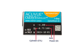 Acuvue Oasys 1 Day for Astigmatism, 30, side-pack