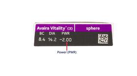 Avaira Vitality, 3, side-pack