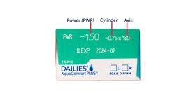 Dailies AquaComfort Plus Toric, 30, side-pack