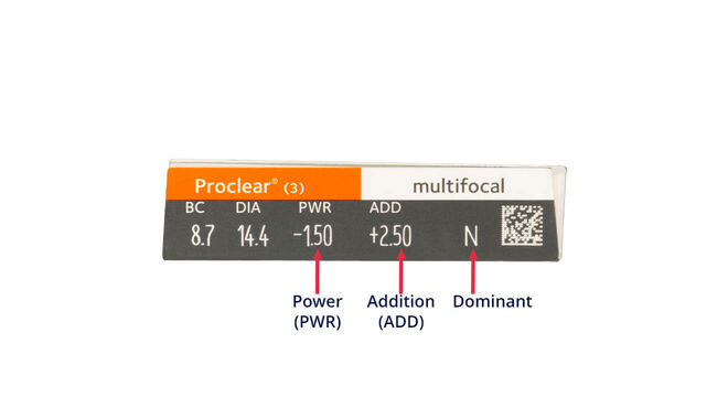Proclear Multifocal, 3, side-pack