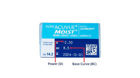 1 Day Acuvue Moist, 30, side-pack