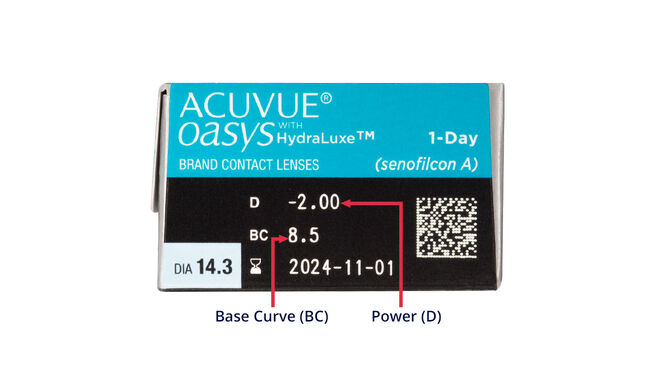Acuvue Oasys 1 Day with HydraLuxe, 30, side-pack
