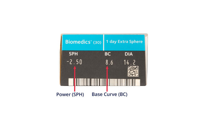 Biomedics 1 Day Extra, 30, side-pack