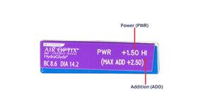Air Optix plus HydraGlyde Multifocal, 3, side-pack