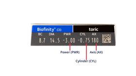 Biofinity Toric, 3, side-pack