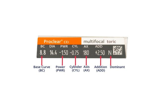 Proclear Multifocal Toric, 3, side-pack