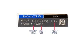 Biofinity XR Toric, 3, side-pack