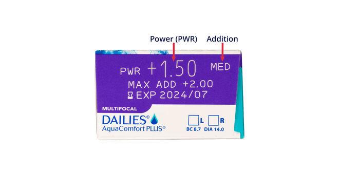 Dailies AquaComfort Plus Multifocal, 30, side-pack